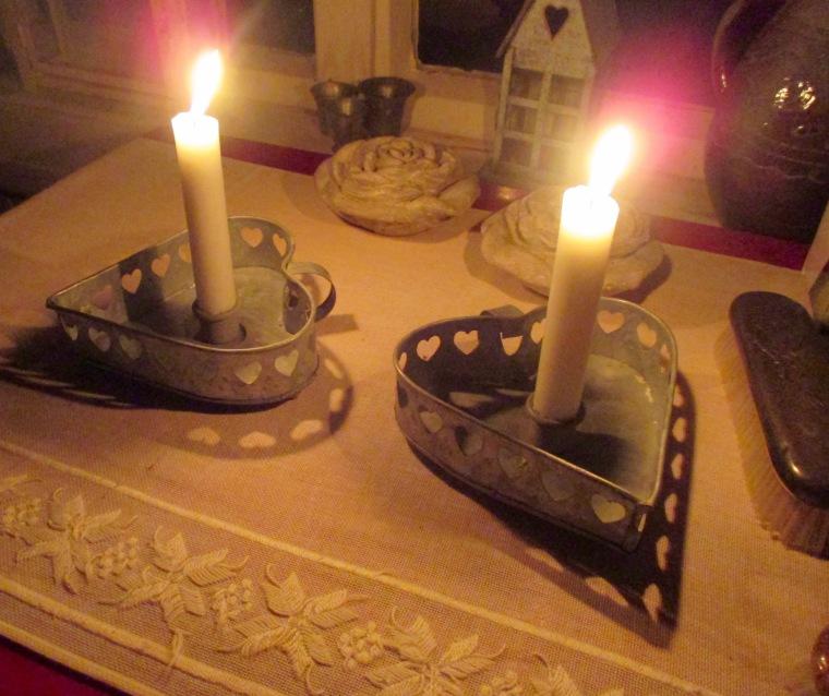 2 Sydän kynttilänjalat